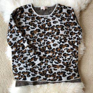 PHILOSOPHY Leopard Print Sweater, sz. L